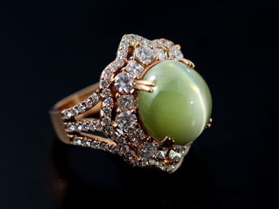 cats eye lehsunia ring