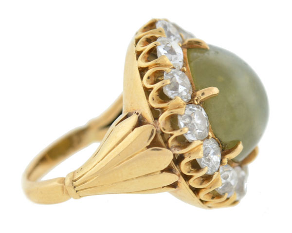 cats eye gemstone ring